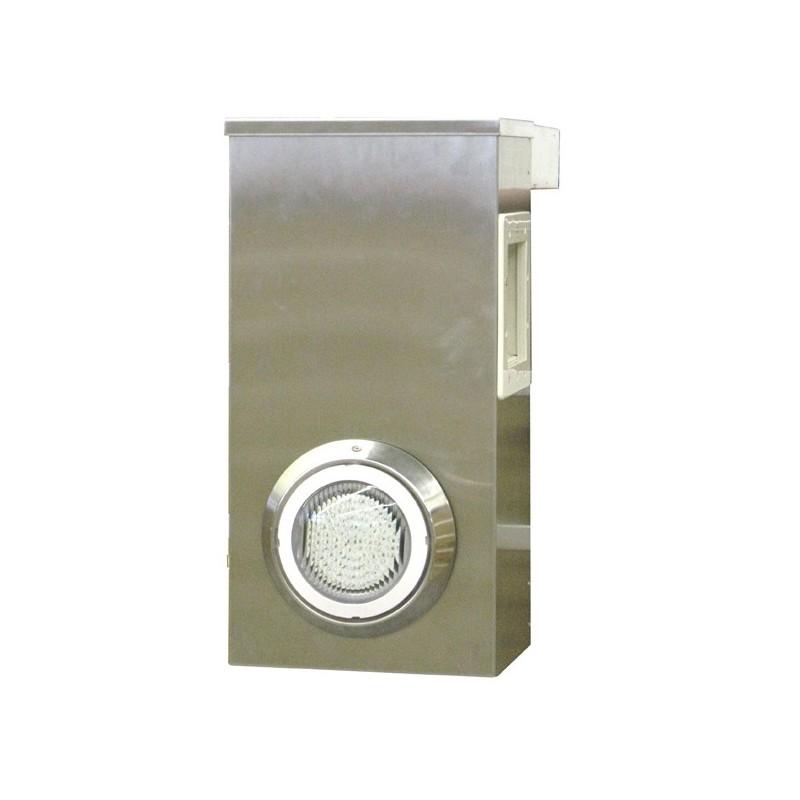 Bloc skimmer aluminium avec clairage water 39 clip ex for Bloc skimmer hors bord