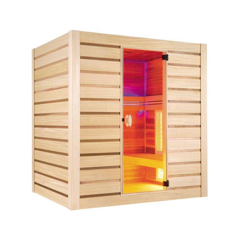sauna hybrid combi holl 39 s. Black Bedroom Furniture Sets. Home Design Ideas