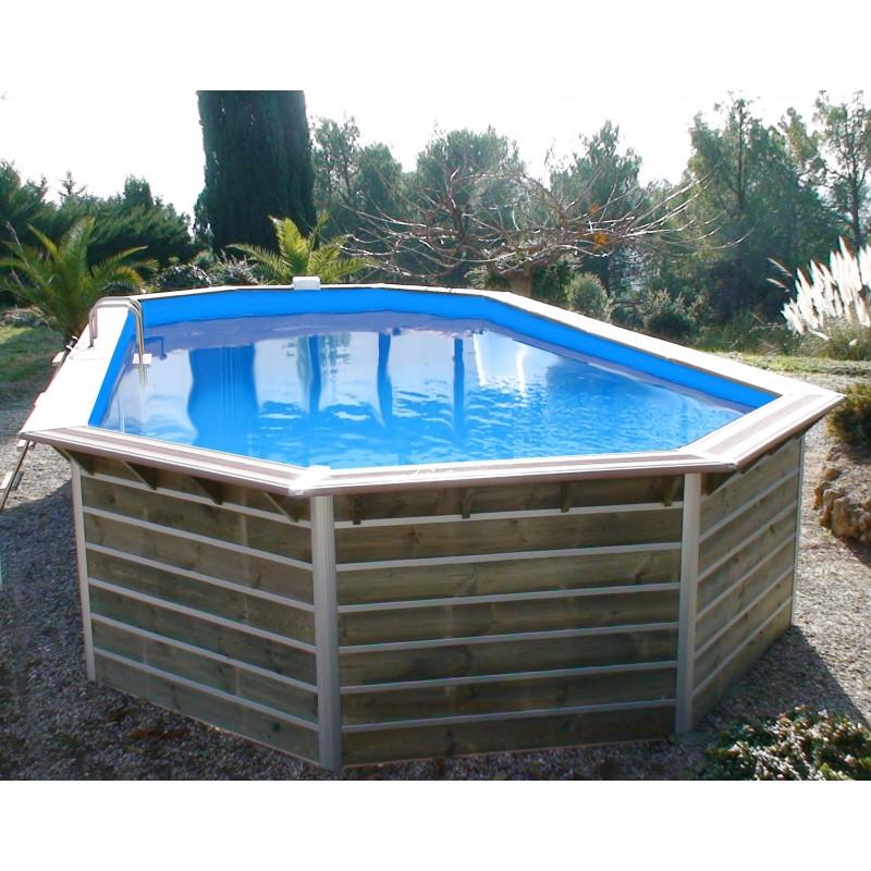 Piscine bois water 39 clip premium hexagonale sabtang for Piscine x water