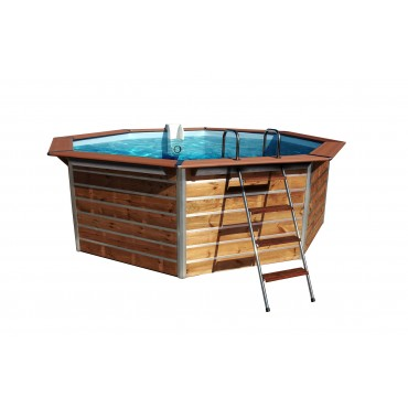 Piscine Bois Water'Clip OPTIMUM hexagonale