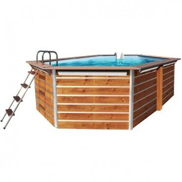 Piscine Bois Water'Clip OPTIMUM hexagonale allongée