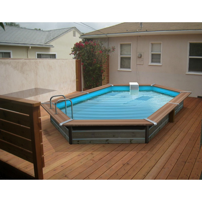 piscine bois water 39 clip optimum hexagonale allong e tasos
