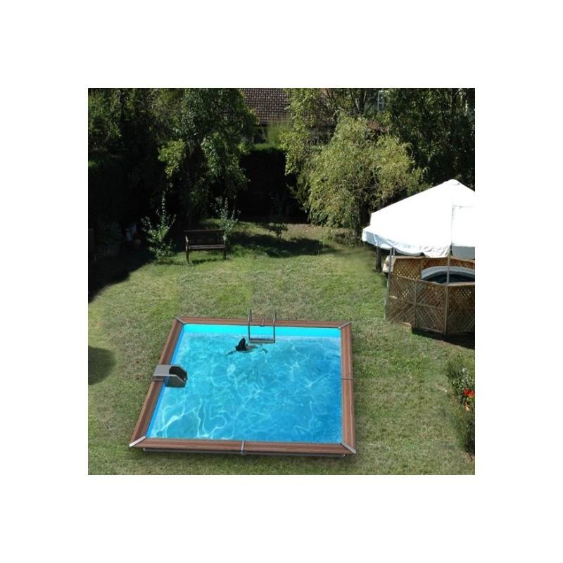 piscine bois water 39 clip optimum carr. Black Bedroom Furniture Sets. Home Design Ideas
