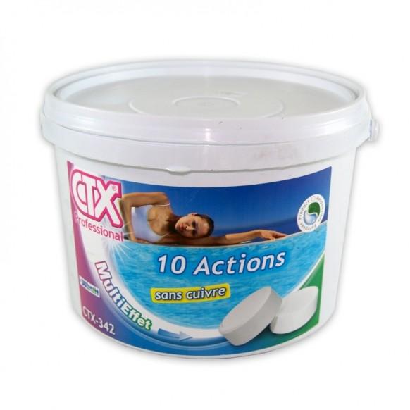 Chlore 10 actions sans cuivre ctx 342 astral galets 250 for Achat sulfate de cuivre pour piscine