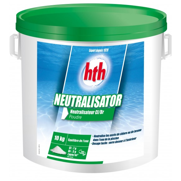 Neutralisateur chlore brome hth neutralisator cristaux for Chlore hth piscine