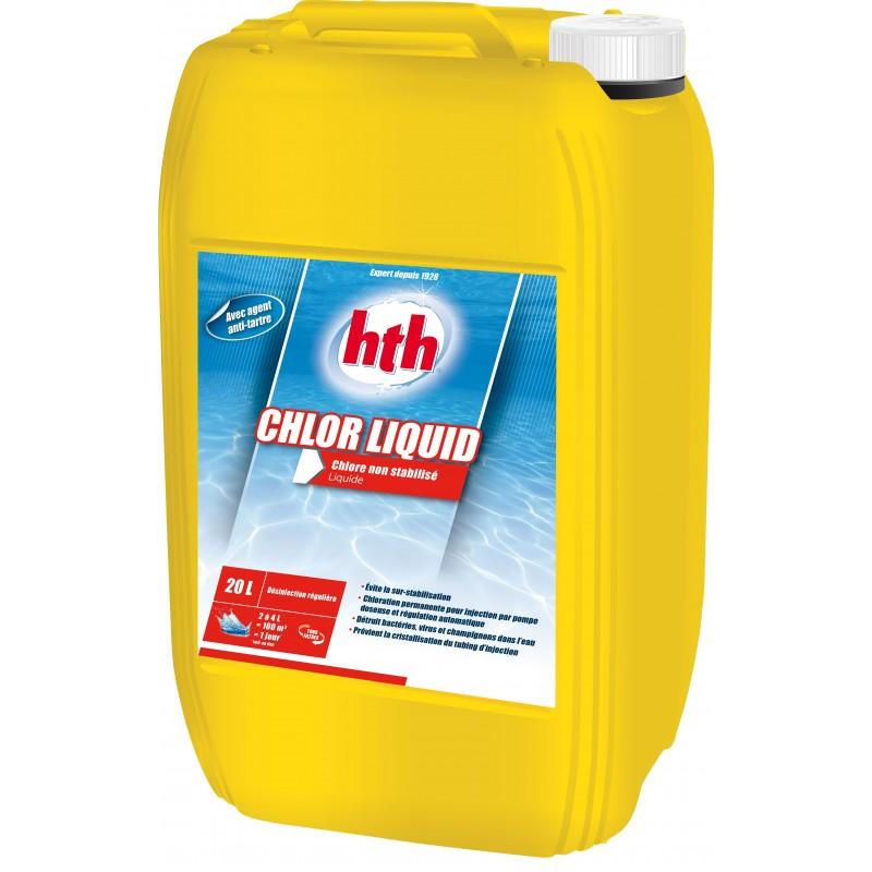 traitement de l eau au chlore non stabilis hth chlor liquid. Black Bedroom Furniture Sets. Home Design Ideas