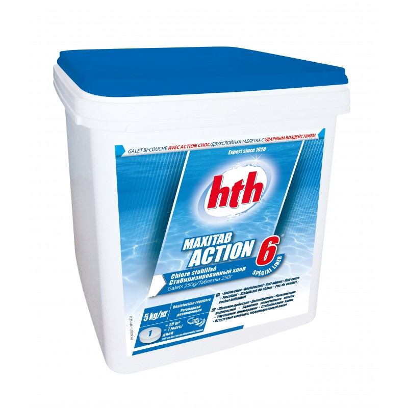 Chlore multiaction maxitab action 6 sp cial liner hth for Couche en special