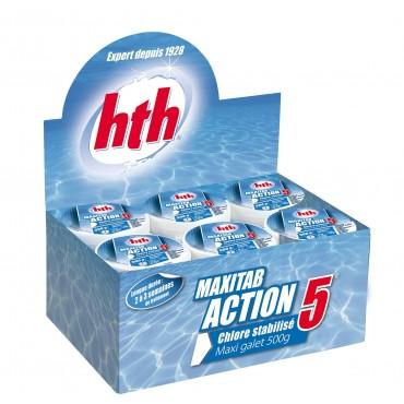 Désinfection régulière multifonction MAXITAB ACTION 5 HTH 500 g.