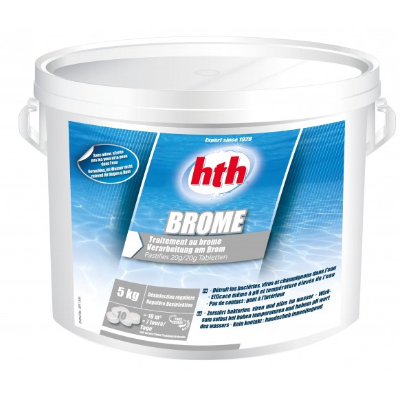 Brome HTH 20 g désinfection régulière piscine