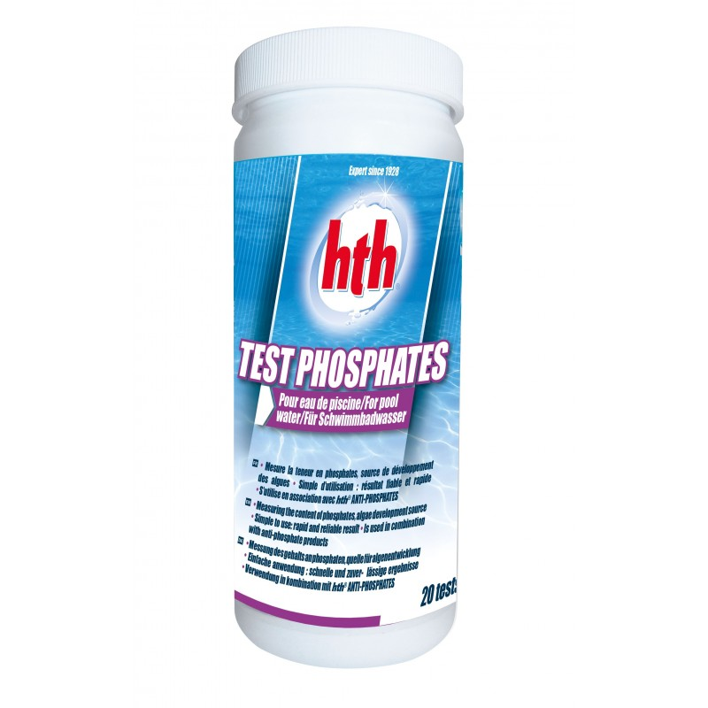 Test de mesure phosphates hth test phosphates for Test de piscine