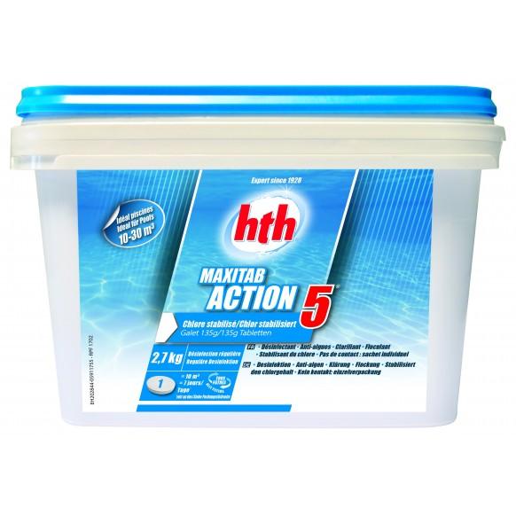 traitement de l eau des piscines hors sol hth maxitab action 5 galets 135 g. Black Bedroom Furniture Sets. Home Design Ideas