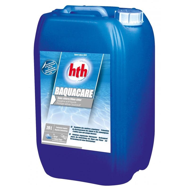 traitement de l eau hth baquacare liquide sans chlore. Black Bedroom Furniture Sets. Home Design Ideas