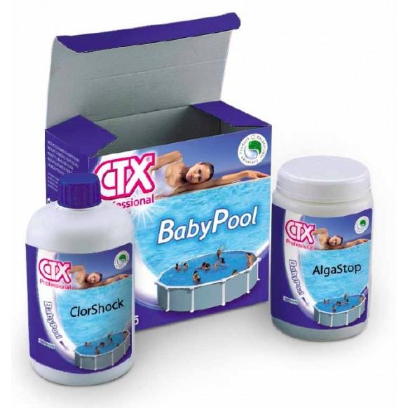 Kit baby pool ctx 205 chlore anti algues pour 10 m3 max for Anti algues pour piscine