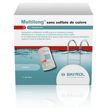 Traitement eau trouble piscine BAYROL Multilong sans sulfate de cuivre
