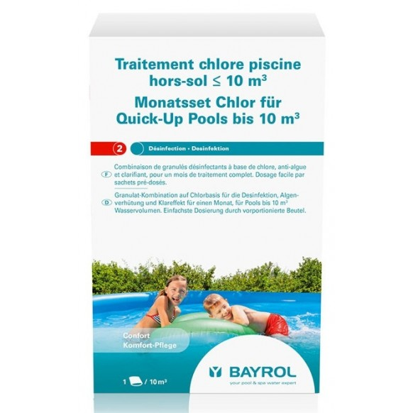 Entretien piscine bayrol traitement au chlore pour for Traitement piscine