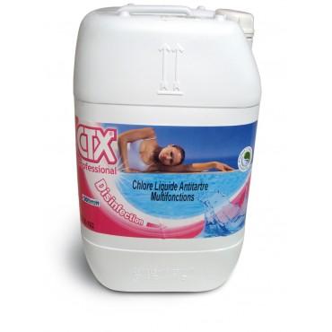 Chlore liquide 36° Multifonction anti tartre CTX 162