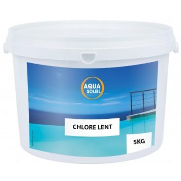 Chlore lent galet 250 g - 5 kg piscine