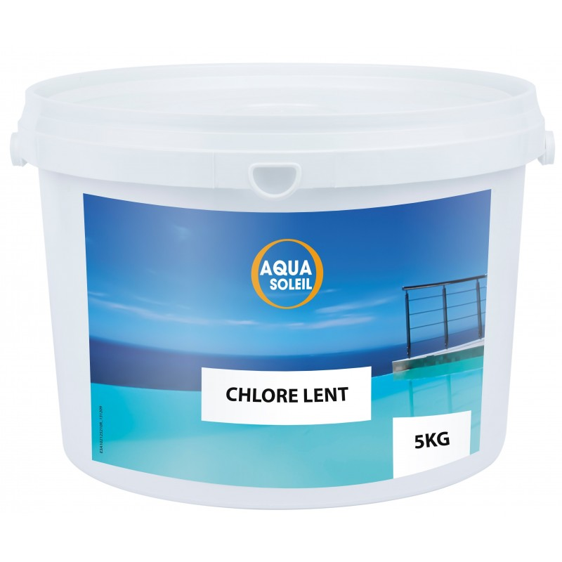 Chlore lent piscine aquasoleil galet 250 g 5 kg for Chlore piscine