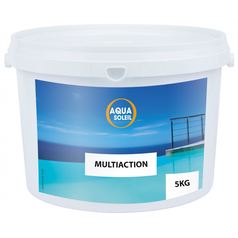 Chlore piscine multi actions aquasoleil galets 250 g for Chlorine piscine
