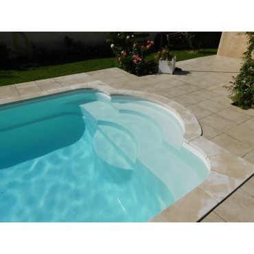 Coque polyester R850 filtration traditionnelle piscine