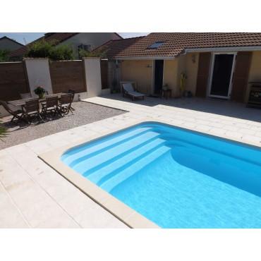 Coque polyester R800 Bloc filtrant pour piscine privée