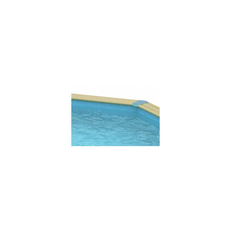 Piscine grande en bois oc a ubbink 355 x 550 for Liner piscine en bois octogonale