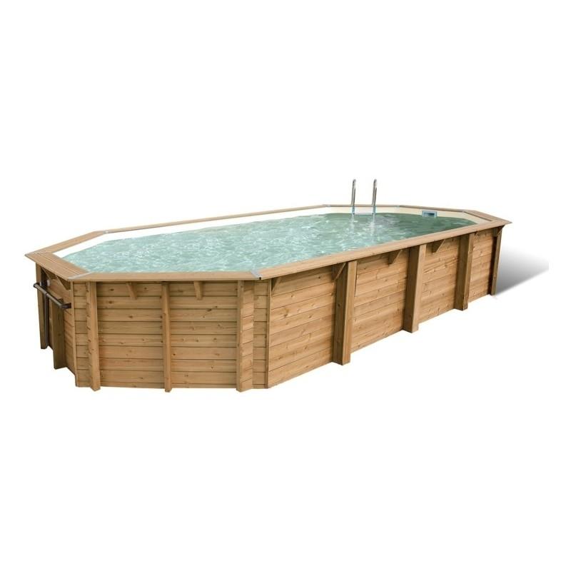 Piscine bois octogonale ubbink oc a 470 x 860 for Ubbink piscine bois