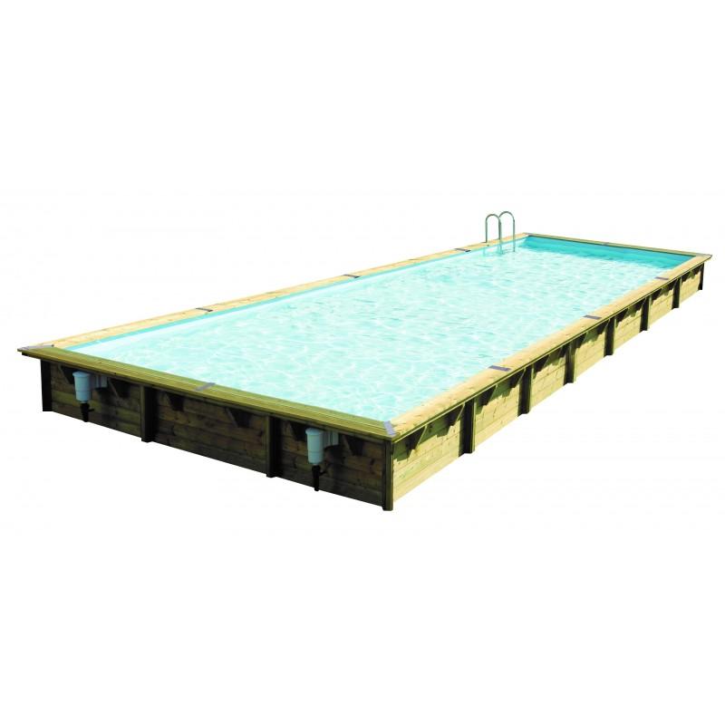 piscine bois longue et rectangulaire ubbink lin a 500 x 1100. Black Bedroom Furniture Sets. Home Design Ideas