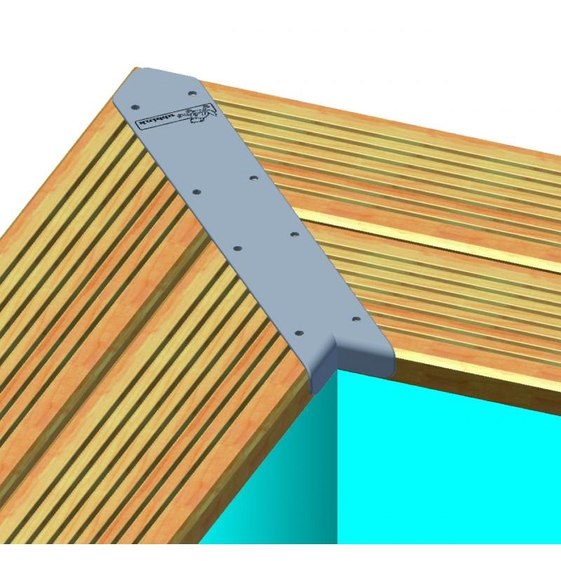 Piscine bois longue et rectangulaire ubbink lin a 500 x 1100 for Piscine bois linea