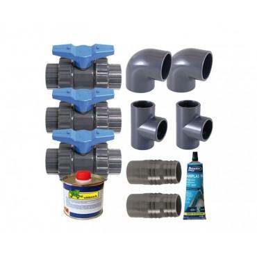 Kit by-pass Ubbink Deluxe pour pompe à chaleur Heatermax