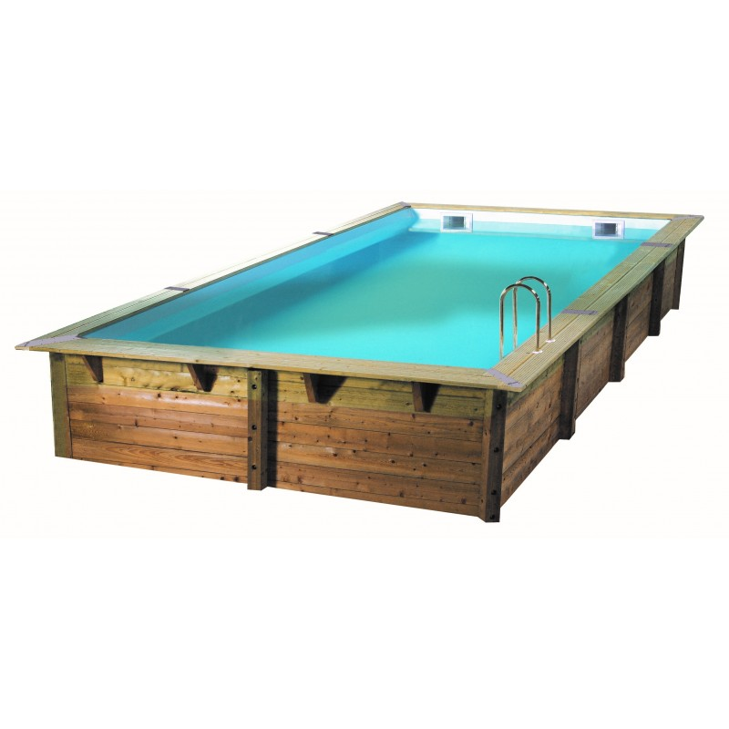 Piscine rectangulaire bois ubbink lin a 350 x 650 for Piscine ubbink