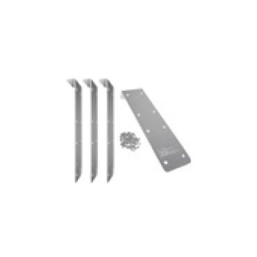 Set d'éléments de raccordement en aluminium de 180° Ubbink