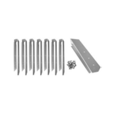 Set d'éléments de raccordement en aluminium de 135° Ubbink