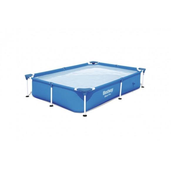 Piscine Rectangulaire Splash Jr.Frame Pools Bleu L221cm L 150cm H 43cm