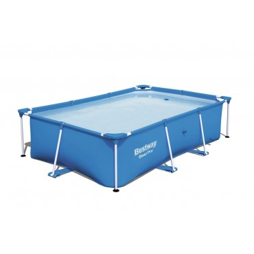 Piscine Tubulaire Rectangulaire Deluxe Splash Frame Pools Bleu L259cm l 170cm h 61cm