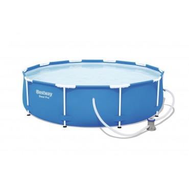Piscine Ronde Steel Pro Frame Pools Bleue D 305 h 76cm
