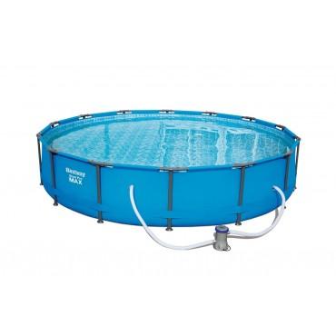 Piscine Tubulaire Ronde Steel Pro Max Pools Bleue D 427cm h 84cm