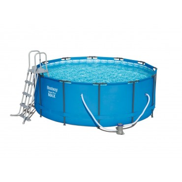 Kit Piscine Ronde Steel Pro Max Pools Bleue D 366cm h 122cm