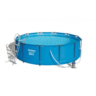 Kit Piscine Tubulaire Ronde Steel Pro Max Pools Bleue D 366cm h 100cm