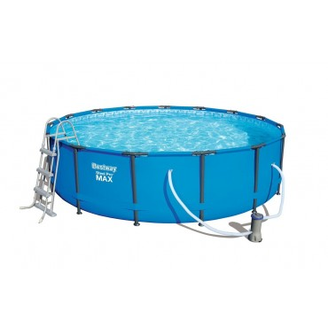 Kit Piscine Tubulaire Ronde Steel Pro Max Pools Bleue D 457cm h 107cm
