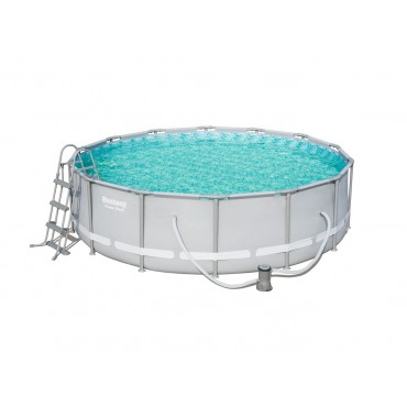 Kit Piscine Tubulaire Ronde Power Steel Frame Pools D 427cm h 107cm