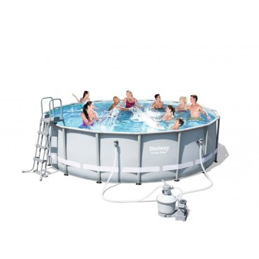 Kit Piscine Tubulaire Ronde Power Steel Frame Pools D 488cm h 122cm
