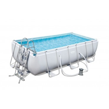 Kit Piscine Tubulaire Rectangulaire Power Frame Pools L 282cm l 196cm h 84cm