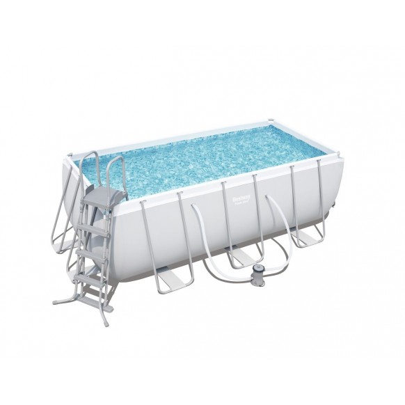Beau Kit Piscine Rectangulaire Power Steel Frame PoolsL 412cm L 201cm H 122 Cm