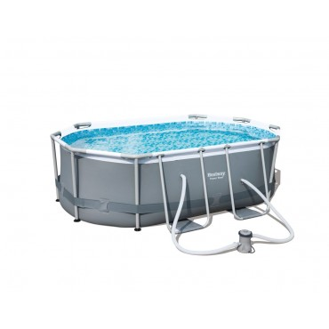 Piscine Tubulaire Ovale Power Steel Frame Pools L 300cm l 200cm h 84cm