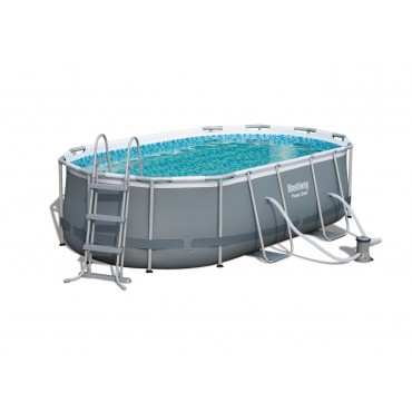 Piscine TubulaireOvale Power Steel Frame Pools L 424cm l 250cm h 100cm