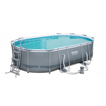 Piscine Tubulaire Ovale Power Steel Frame Pools L 488cm l 305cm h 107cm