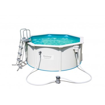 Kit Piscine Ronde Steel Wall Pool D 300cm h 120cm