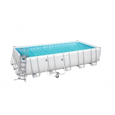 Kit Piscine Rectangulaire Power Steel Frame PoolsL 412cm l 201cm h 122 cm