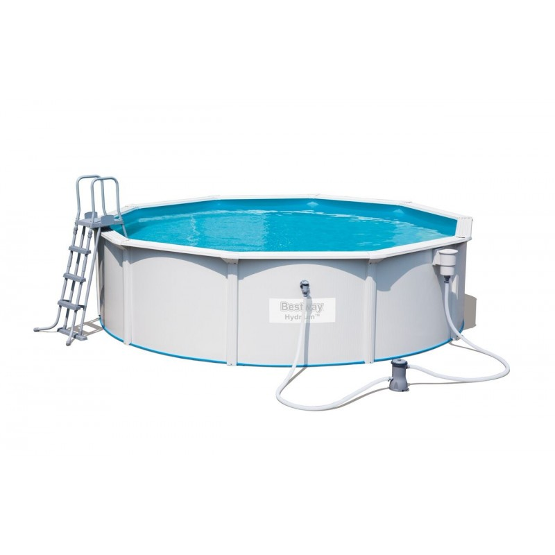 Kit piscine ronde steel wall pool for Piscine ronde